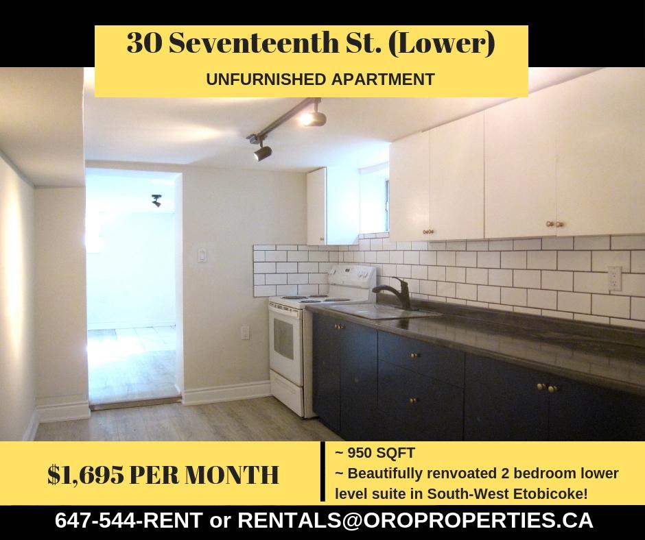 30 Seventeenth Street (Basement Suite)