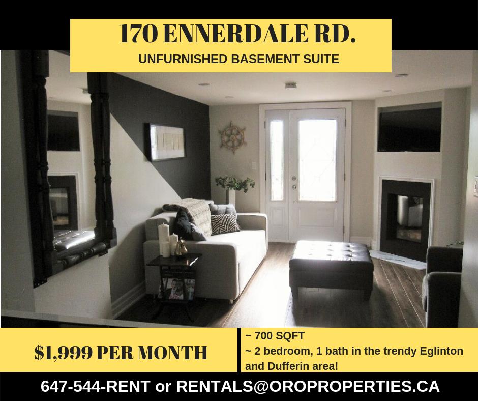 Clean, Trendy Eglinton West Gem Not your average basement suite!