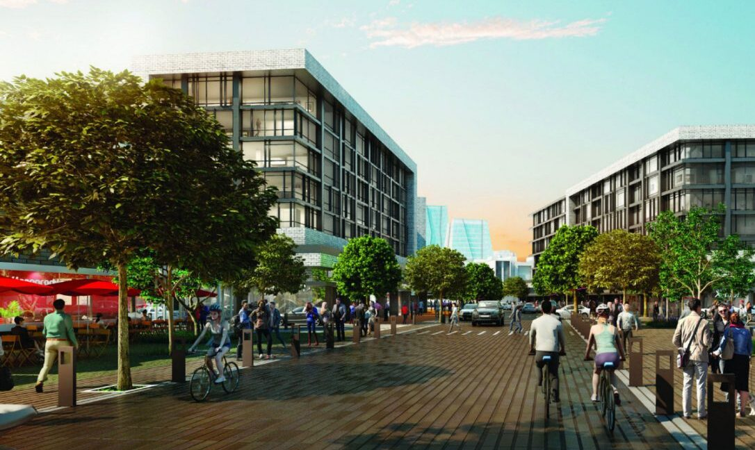 Lakeview Streetscape rendering
