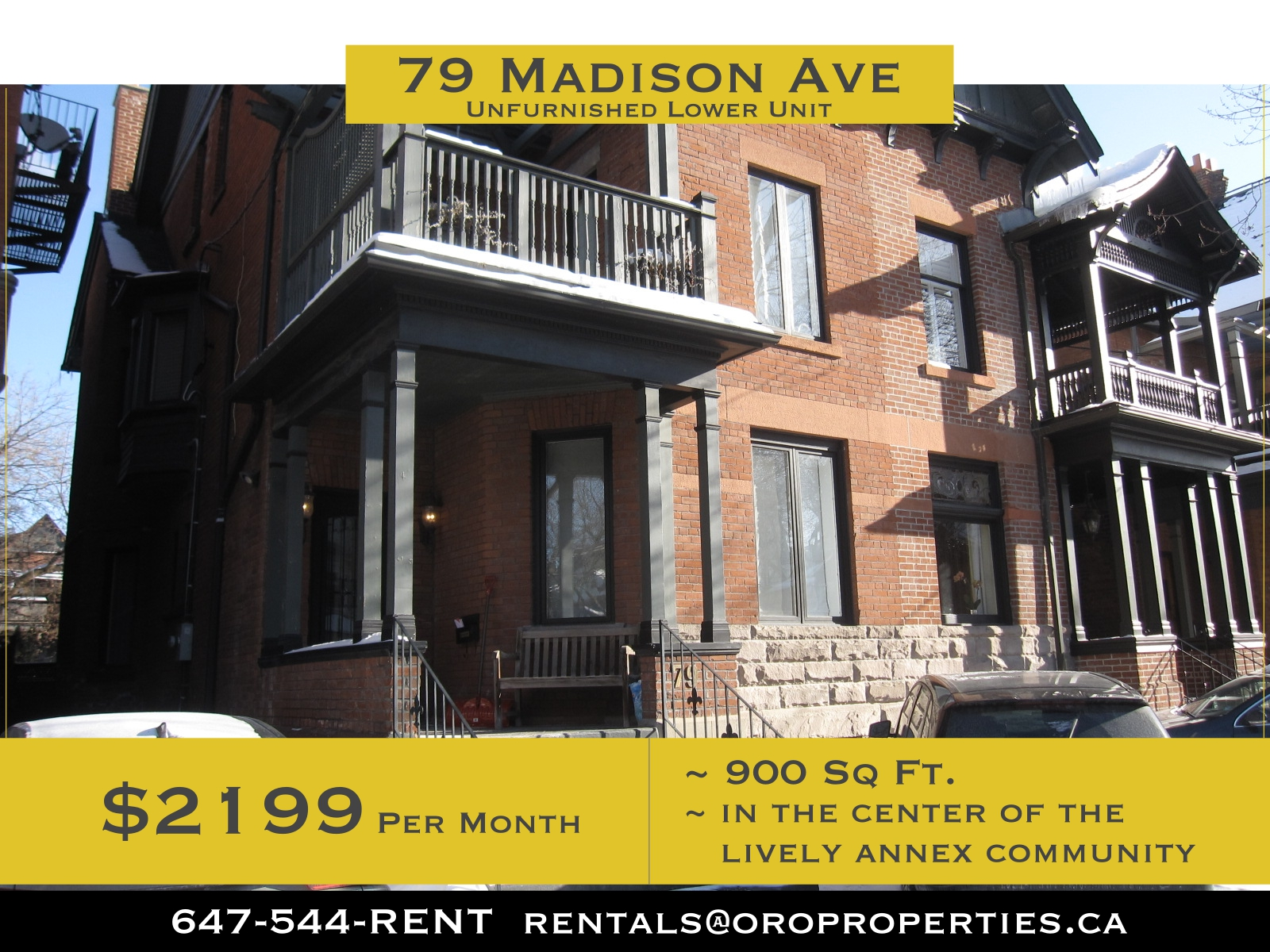 79 Madison Avenue – Charming Newly Renovated 1 Bedroom + Den Lowe Level Suite in The Annex