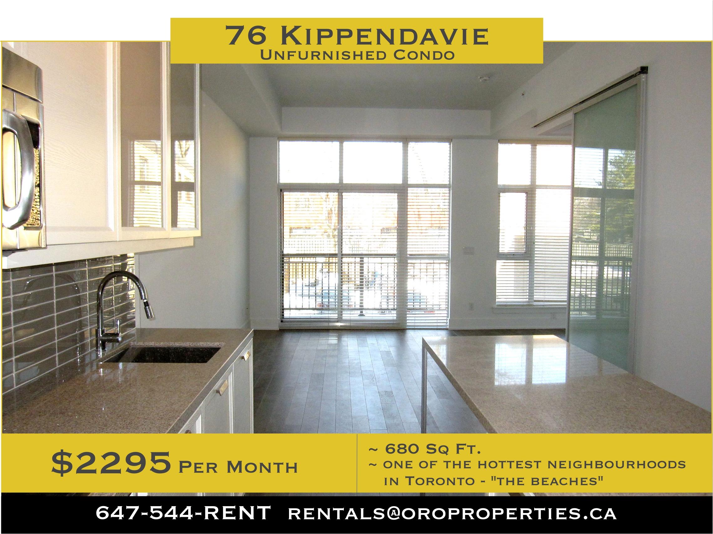 76 Kippendavie – Gorgeous 1 Bedroom + Den, 1 Bathroom Condo in the Beaches!