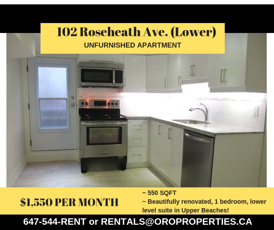 102 Roseheath – Condo Style Basement Suite
