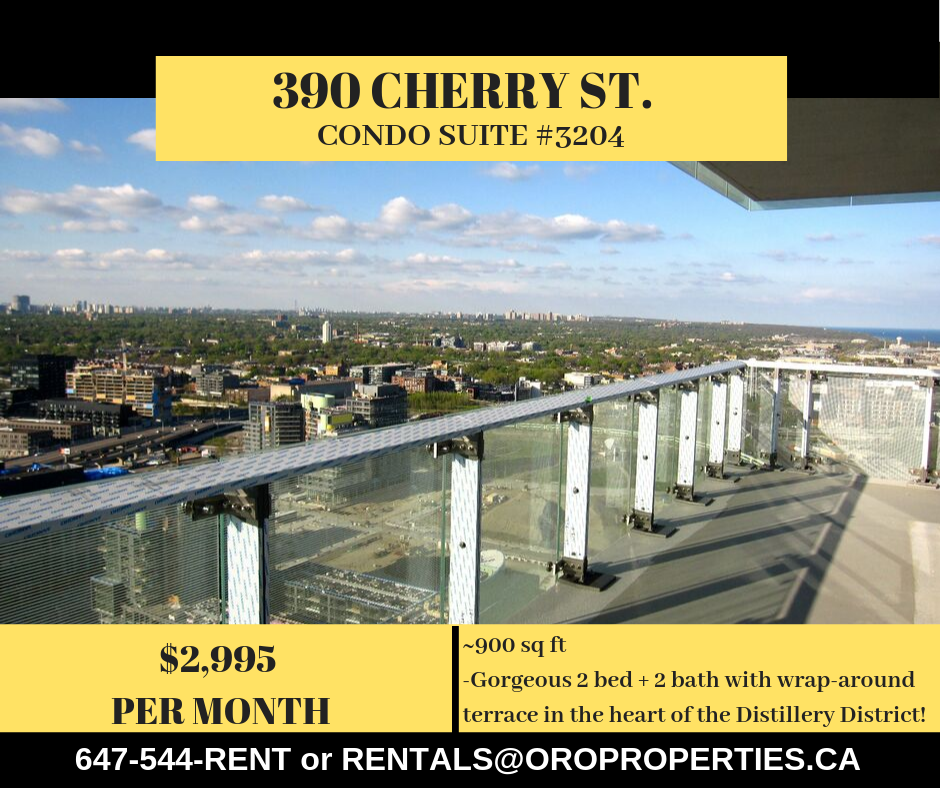 390 Cherry St. – 2 Bed + 2 Bath condo in the Heart of the Distillery District!